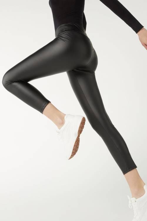 XHAN - Siyah Geniş Kemer Mat Deri Tayt 2KXK5-45510-02