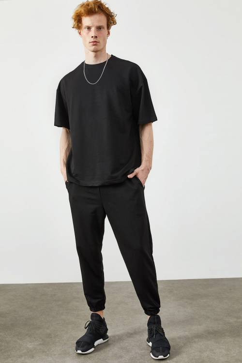 XHAN - Siyah İkili Tshirt Takım 2KXE8-45344-02