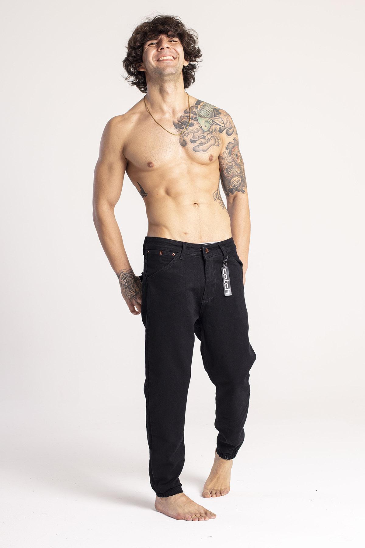 XHAN - Siyah Jogger Kot Pantolon 1KXE5-44669-02