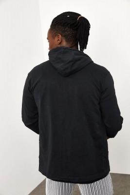 Siyah Kapüşonlu Mevsimlik Ceket 1YXE8-44964-02 - Thumbnail