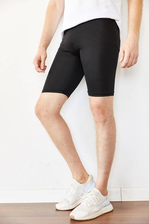 XHAN - Siyah Kısa Bisikletçi Tayt 0YXE5-44064-02