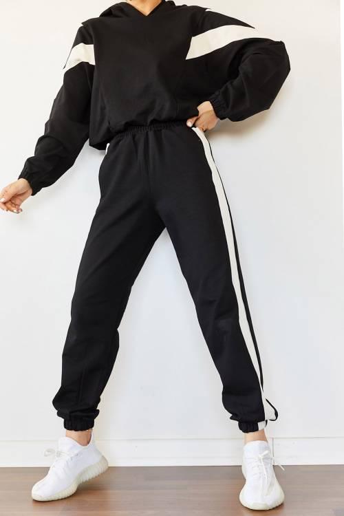 XHAN - Siyah Parçalı Eşofman Takımı 2KXK8-45418-02