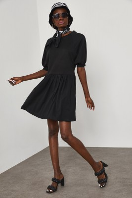 XHAN - Siyah Penye Elbise 1YXK6-45038-02