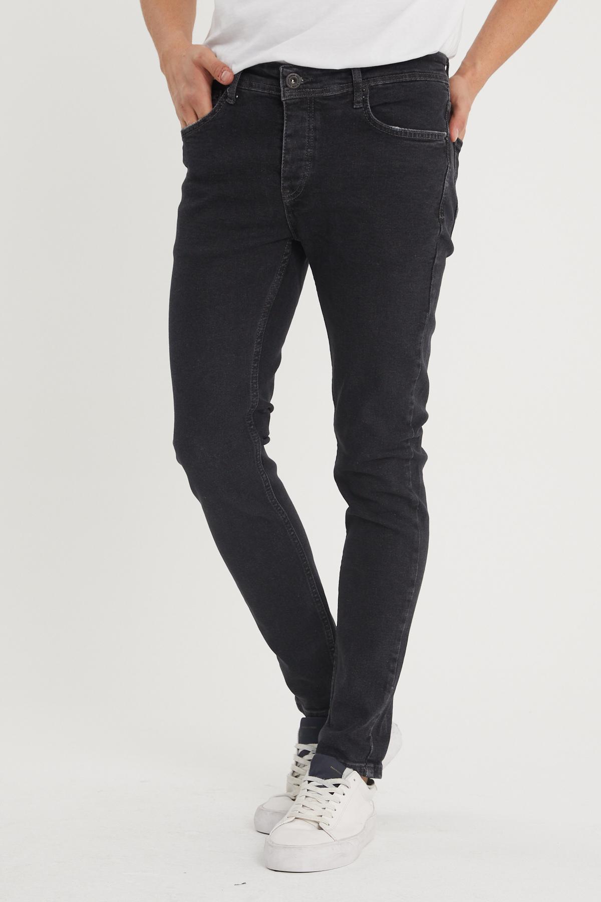 XHAN - Siyah Slim Fit Jean Pantolon 1KXE5-44354-02