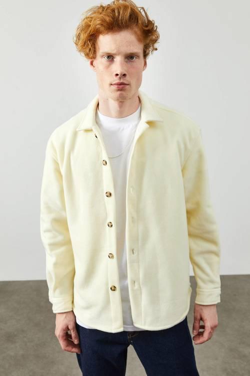 XHAN - Soft Sarı Polar Düğmeli Gömlek 2KXE2-45335-63