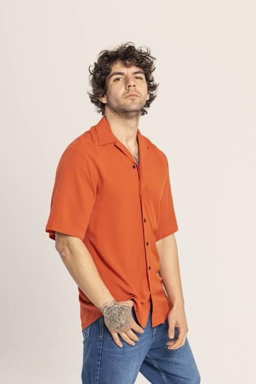 XHAN - Turuncu Oversize Gömlek 1KXE2-44813-11