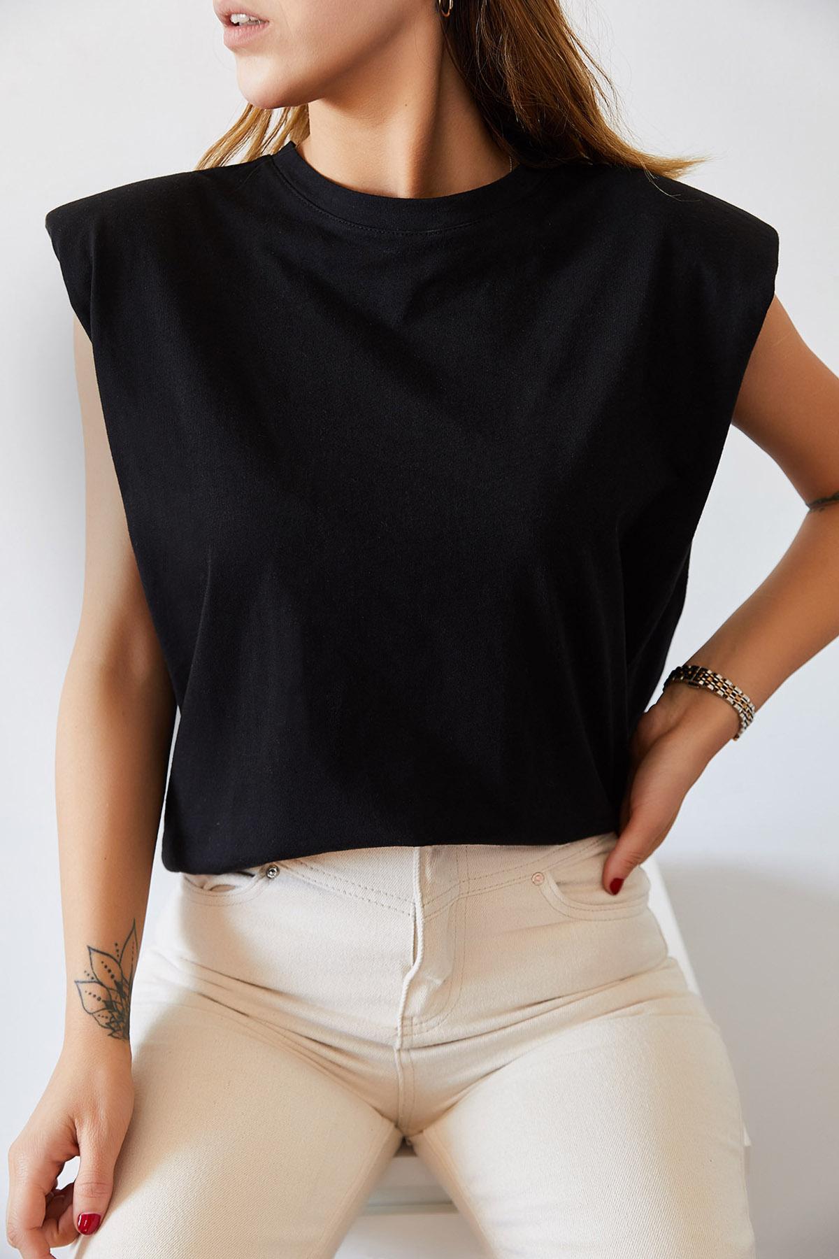 - Vatkalı Basic Tişört 0YXK2-43401-02