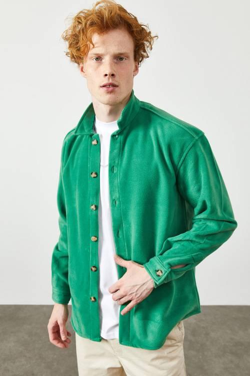 XHAN - Yeşil Polar Düğmeli Gömlek 2KXE2-45335-08